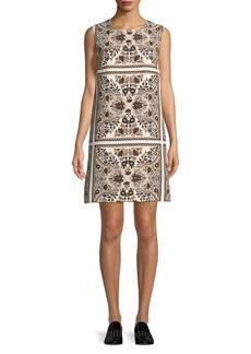 Max Mara Studio Printed Cotton Shift Dress