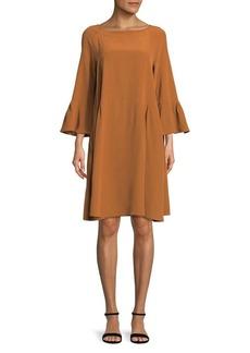 Max Mara Studio Raglan-Sleeve Silk Dress