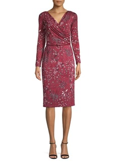 Max Mara Studio Ruby Floral Belted Jersey Dress