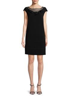 Max Mara Studio Ruffle Cap-Sleeve Dress