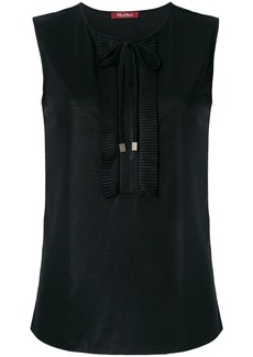Max Mara Studio tie neck vest top - Black