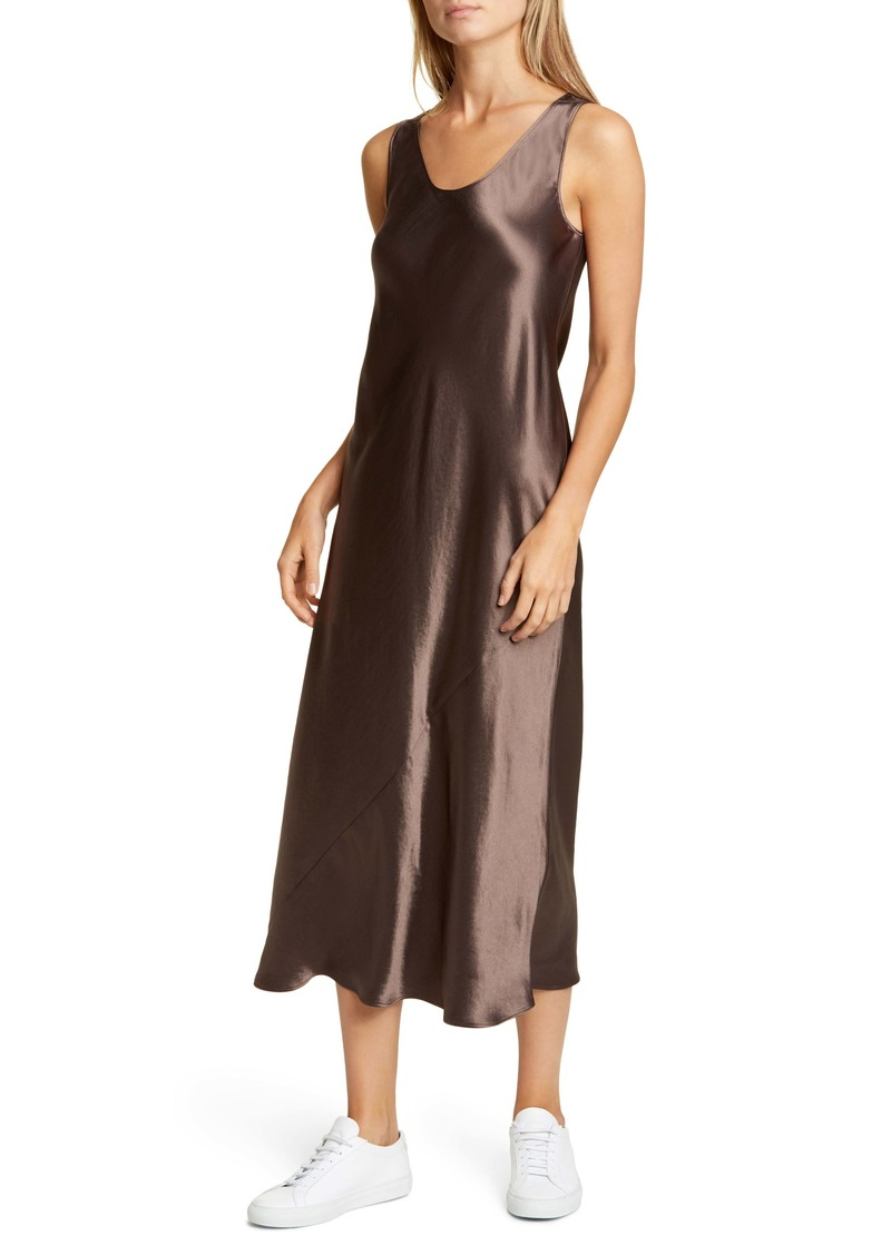 Max Mara Leisure Talete Satin Midi Tank Dress