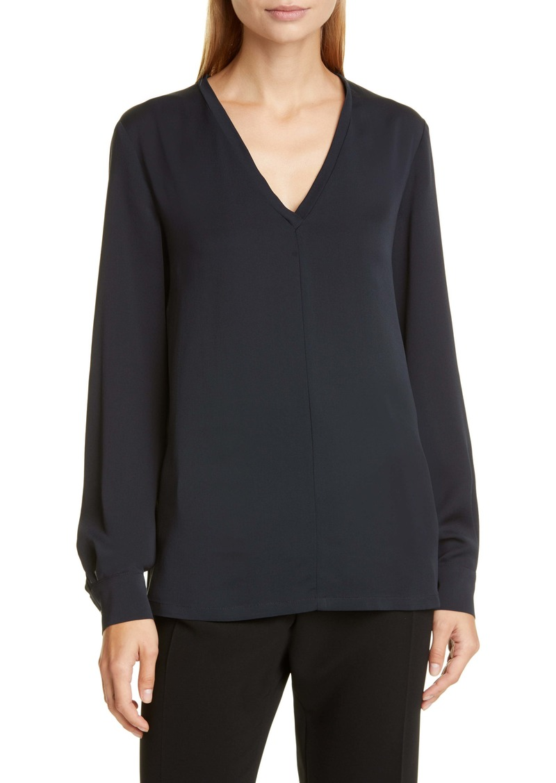 Max Mara Terra V-Neck Silk Top