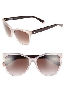 Max Mara Thins 56mm Gradient Cat Eye Sunglasses