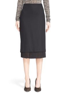 Max Mara 'Uvetta' Pleated Hem Stretch Jersey Skirt