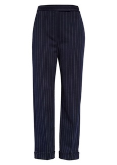 Max Mara Valanga Pinstripe Cuff Pants