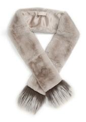 Max Mara 'Vetrino' Genuine Rabbit Fur Scarf
