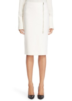 Max Mara 'Visita' Wool Jersey Pencil Skirt