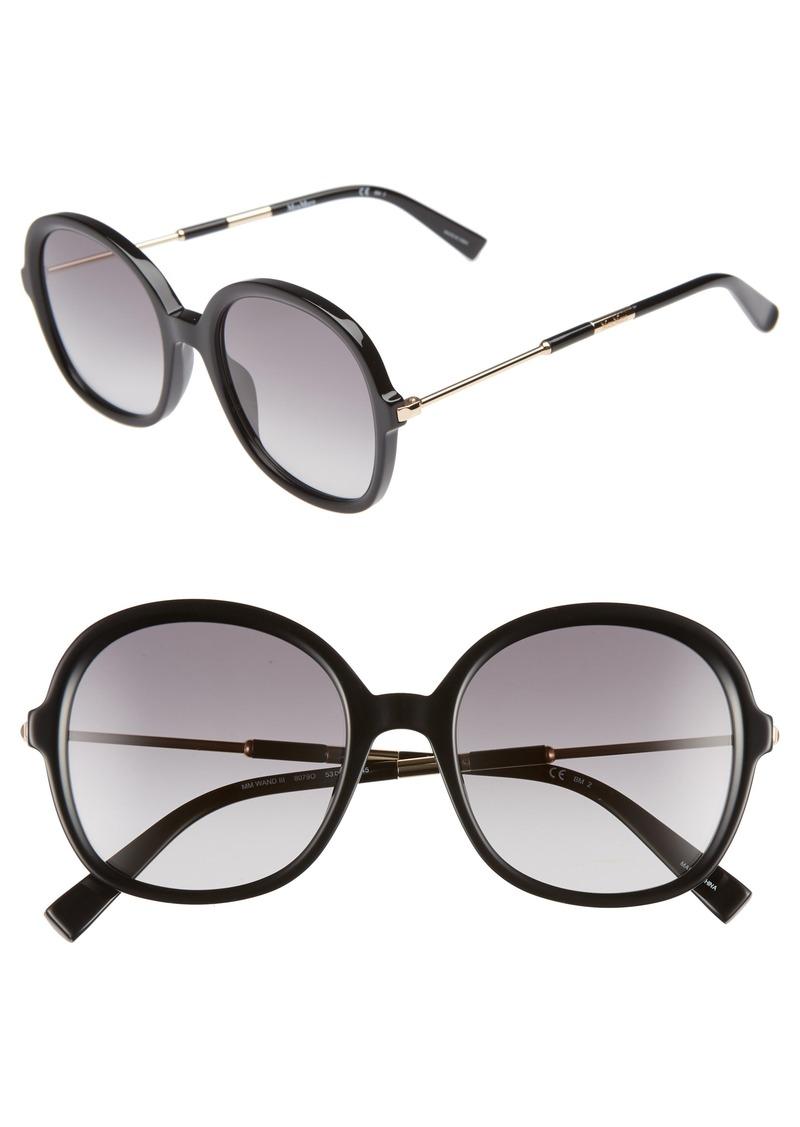 Max Mara Wand III 53mm Round Sunglasses