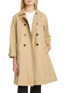 Max Mara Water Repellent Cotton Trench Coat with Removable Lining