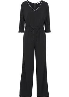 Max Mara Woman Acerbo Crepe Jumpsuit Black