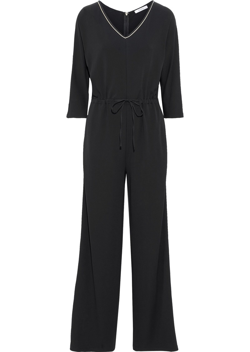 Max Mara Woman Acerbo Crepe Jumpsuit Black