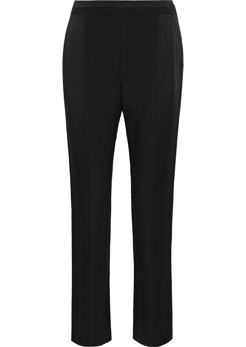 Max Mara Woman Agostin Satin-paneled Crepe Straight-leg Pants Black