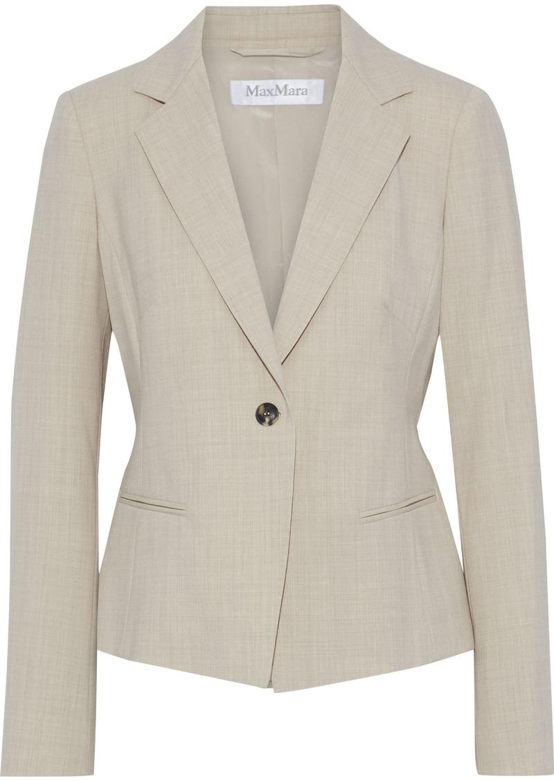 Max Mara Woman Albert Wool-blend Twill Blazer Ecru