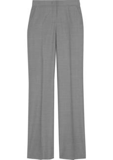 Max Mara Woman Alessia Wool-blend Straight-leg Pants Gray