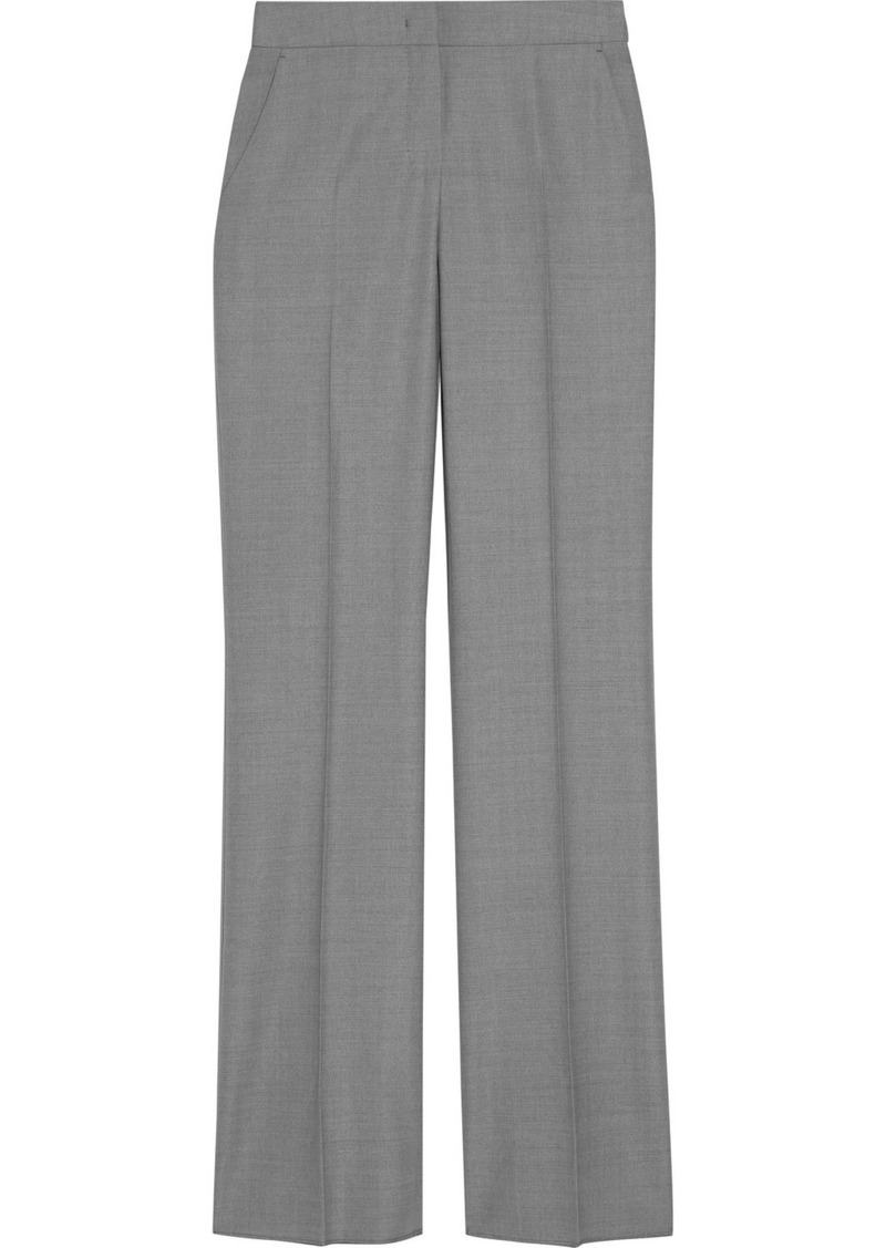 Max Mara Woman Alessia Wool-blend Straight-leg Pants Gray
