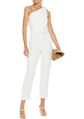 Max Mara Woman Amerigo Cropped Belted Knotted Crepe Jumpsuit White