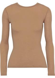 Max Mara Woman Ariella Slub Wool-blend Jersey Top Camel