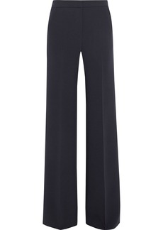 Max Mara Woman Artur Stretch-wool Crepe Wide-leg Pants Navy