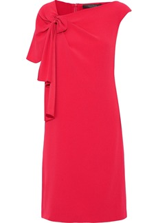 Max Mara Woman Astrale Knotted Crepe Dress Red
