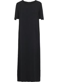 Max Mara Woman Bead-embellished Stretch-crepe Midi Dress Black
