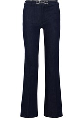 Max Mara Woman Belted Mid-rise Flared Jeans Dark Denim