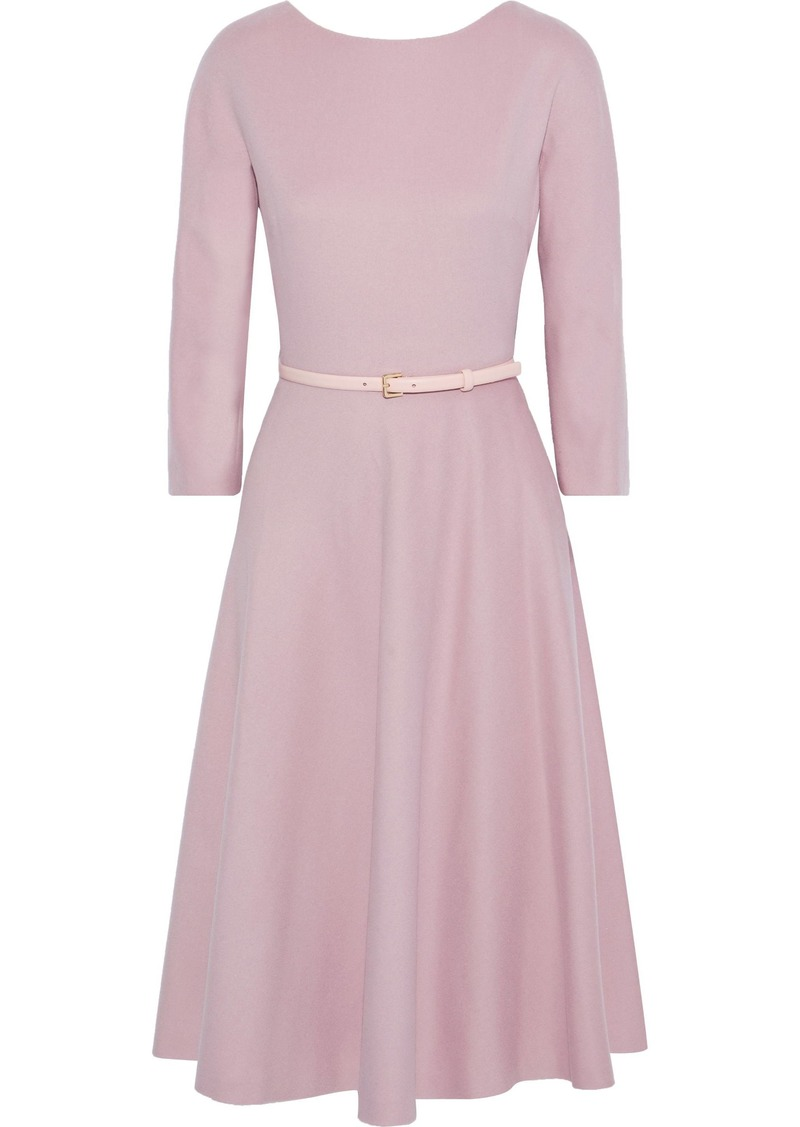 Max Mara Woman Biavo Belted Camel Hair Dress Antique Rose