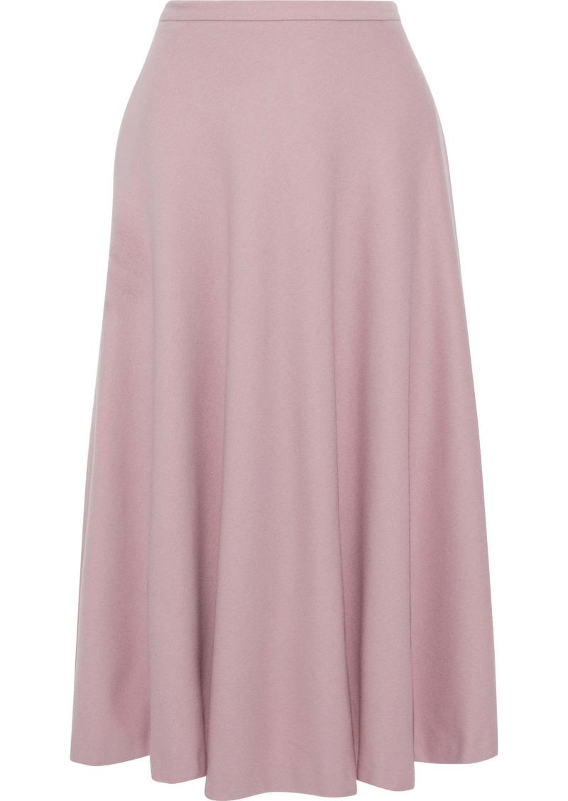 Max Mara Woman Cabras Camel Hair Midi Skirt Baby Pink