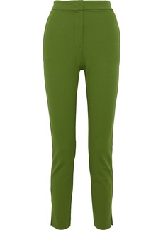 Max Mara Woman Lembo Stretch-jersey Skinny Pants Leaf Green