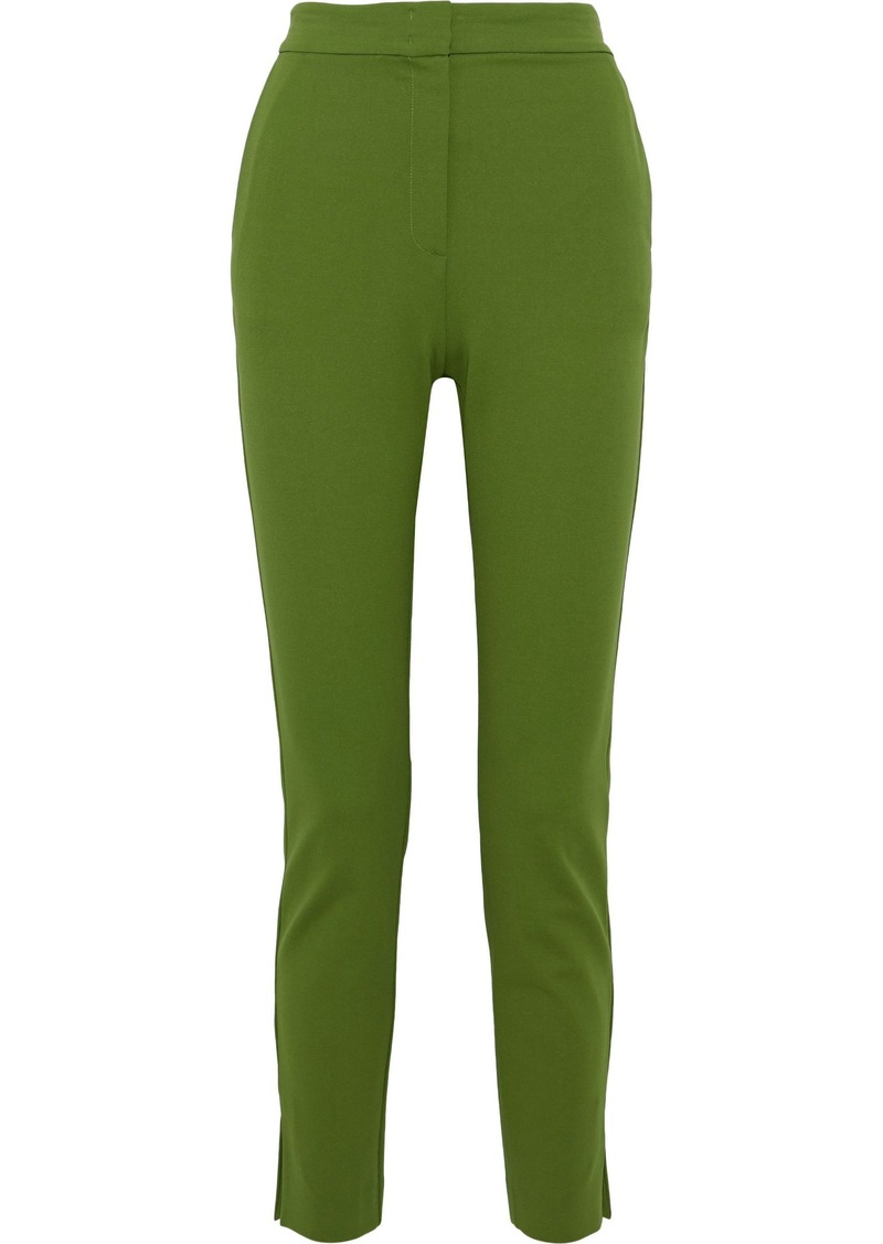 Max Mara Woman Lembo Stretch-jersey Skinny Pants Leaf Green