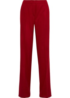 Max Mara Woman Camel Hair Straight-leg Pants Crimson