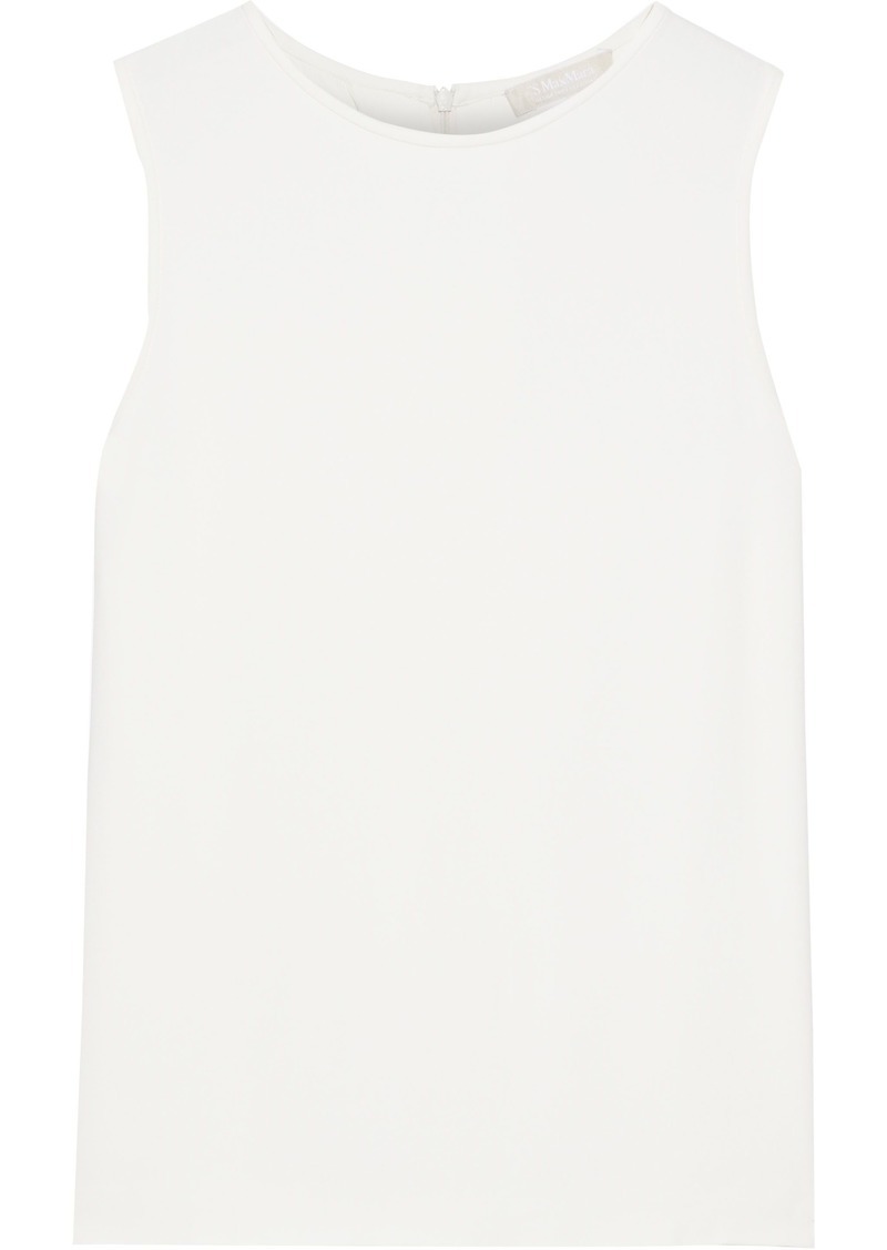 Max Mara Woman Cavallo Cady Top Off-white