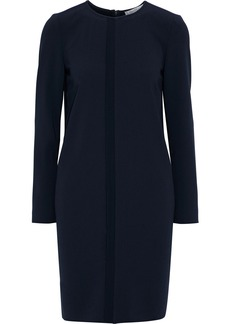 Max Mara Woman Cirino Crepe De Chine-trimmed Cady Mini Dress Midnight Blue