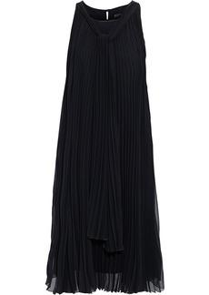 Max Mara Woman Clelia Draped Pleated Georgette Dress Black