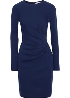 Max Mara Woman Colimbo Pleated Textured Wool-jersey Dress Royal Blue