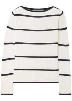 Max Mara Woman Comma Striped Intarsia-knit Sweater Ivory