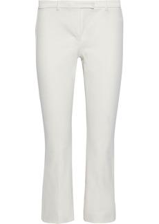 Max Mara Woman Cotton-blend Twill Kick-flare Pants White
