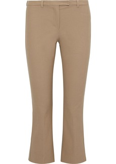 Max Mara Woman Cotton-blend Twill Kick-flare Pants Neutral