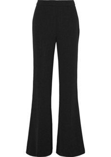 Max Mara Woman Crepe Flared Pants Black