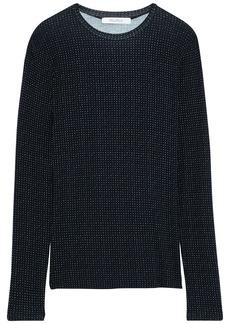 Max Mara Woman Creso Printed Stretch-jersey Top Black