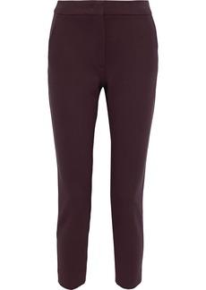 Max Mara Woman Cropped Ponte Slim-leg Pants Grape
