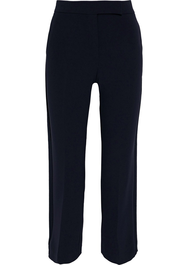 Max Mara Woman Curvone Cropped Cady Straight-leg Pants Midnight Blue