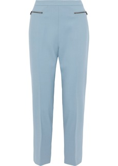 Max Mara Woman Dalila Cropped Stretch-wool Cady Tapered Pants Light Blue
