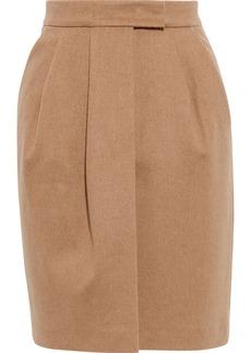 Max Mara Woman Dany Pleated Camel Hair Mini Skirt Camel