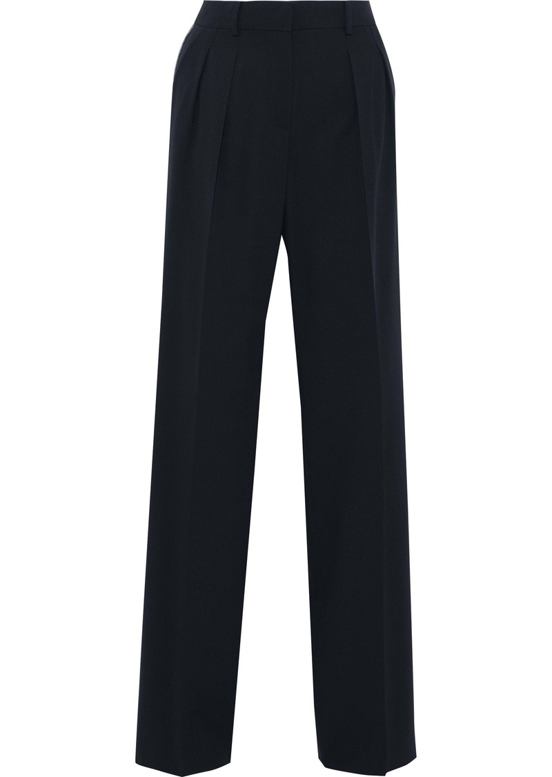 Max Mara Woman Dfumett Wool-blend Wide-leg Pants Midnight Blue