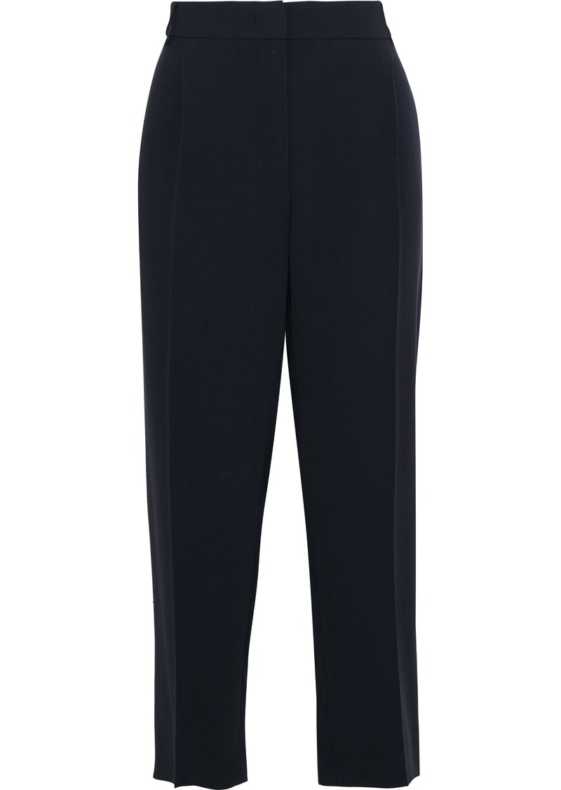 Max Mara Woman Dono Cropped Crepe Straight-leg Pants Midnight Blue