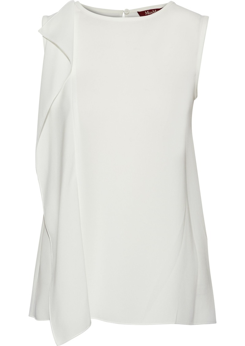 Max Mara Woman Draped Crepe Top White