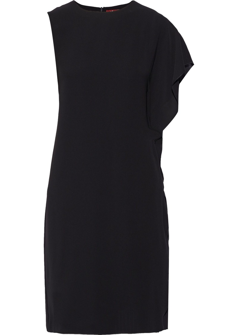 Max Mara Woman Draped Georgette Dress Black
