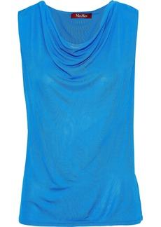 Max Mara Woman Draped Jersey Top Azure