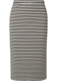 Max Mara Woman Egoista Striped Stretch-knit Pencil Skirt Black